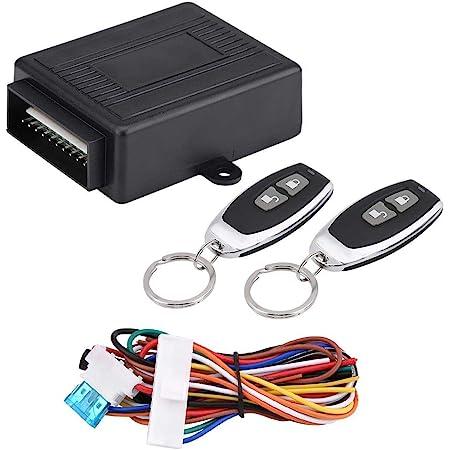 serratura per portiera del veicolo con sensore di scossa 2 telecomandi di ricambio Riloer Chiusura centralizzata per auto kit centrale per telecomando automatico universale scatola di controllo