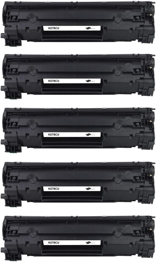 5 Pack Compatible Replacement for HP Laserjet M1536 MFP M1536DNF P1560 P1566 P1606 P1606DN; Canon LBP6200D LBP6200dw LBP6230d LBP6230dw Printers Toner Cartridge for HP 78A CE278A