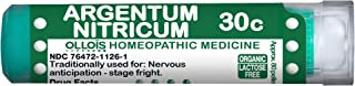 OLLOIS Organic & Lactose-Free Argentum Nitricum 30C Pellets, Homeopathic Medicine for Nervous Anticipation, Stage Fright, ...