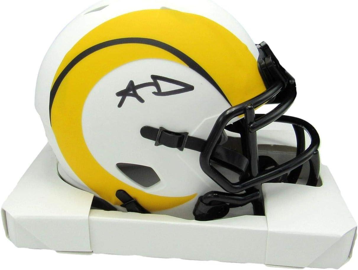 Aaron Donald shop Signed Autograph Rams Lunar Year-end gift JSA Eclipse Mini Helmet