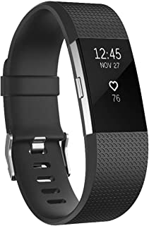 Compatible Fitbit Charge2 Band Small, Soft TPU Silicone Replacement Sport Band Fitness Strap Compatible for Fitbit Charge 2 -Black