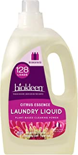 Biokleen Natural Laundry Detergent - 128 HE Loads - Liquid, Concentrated, Eco-Friendly, Non-Toxic, Plant-Based, No Artificial Fragrance or Preservatives, Citrus Essence
