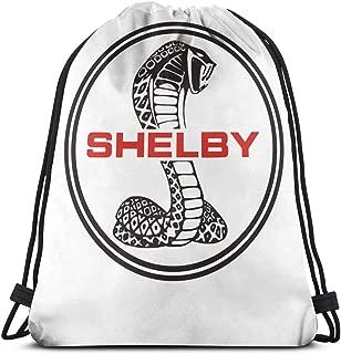 DATG Ford Mustang SVT Cobra Shelby Drawstring Backpack Polyester School Rucksack Shoulder Bags Gym Backpack Tote