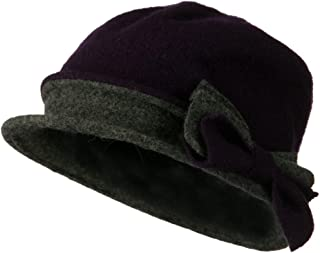 1041706a6b0 Jeanne Simmons 2 Toned Boiled Wool Bucket Hat with Bow Detail