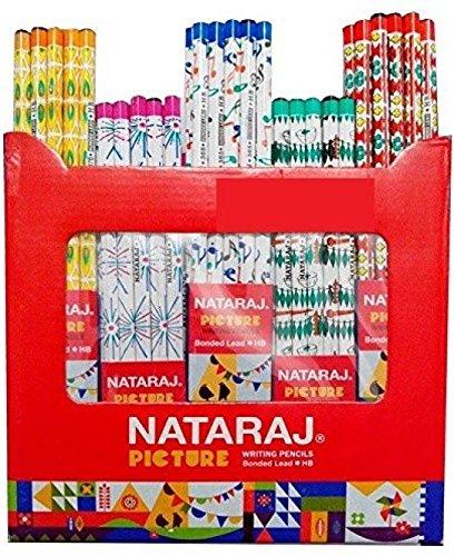 Nataraj Wooden Picture Pencils (Pack Of 50 Pencils 5 Sharpener Free)