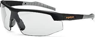 Ergodyne Skullerz SKOLL Safety Glasses-Matte Black Frame, Clear Lens