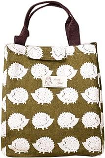 Bullidea 1x Storage Bag Creative Hedgehog Pattern Storage Bag Foldable Lock Storage Bags 25x 21x 19cm