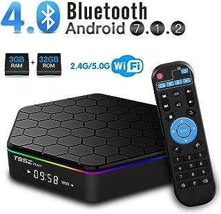 T95Z Plus Android TV Box 3GB RAM 32GB ROM, Android 7.1 TV Box Amlogic S912 Octa Core Dual 2.4/5.0 GHz WiFi Support 1000M LAN Ethernet 64Bit H.265 Bluetooth 4.0 UHD 4K HD TV Box