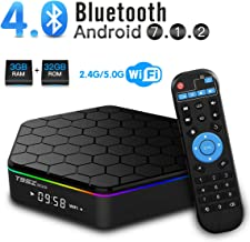 T95Z Plus Android TV Box 3GB RAM 32GB ROM, Android 7.1 TV Box Amlogic S912 Octa Core Dual 2.4/5.0 GHz WiFi Support 1000M LAN Ethernet 64Bit H.265 Bluetooth 4.0 UHD 4K HD TV Box