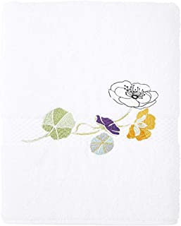 Yves Delorme - Pavot Blanc (White) 28 x 55 in Bath Towel - Luxury Bath Towel from France.