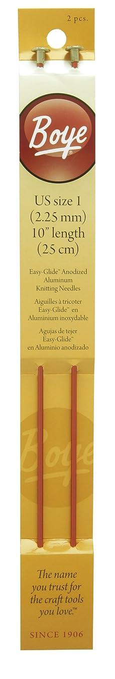 Boye 10-Inch Aluminum Single Point Knitting Needles, Size 1
