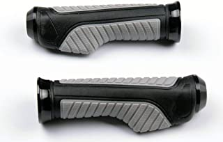 MotorToGo Gray Aluminum Handlebar Gel Hand Grips with End Cap for 2004 Buell Firebolt XB9R