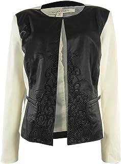 ELLEN TRACY Womens Faux Fur Front Vest Espresso Size Small