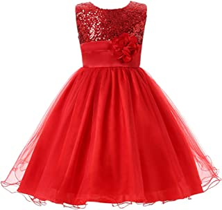 Little Girl Flower Sequin Princess Tulle Party Dress Birthday Ball Gowns