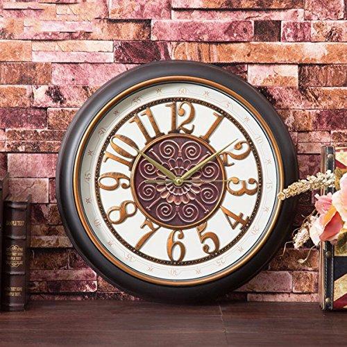 Wanduhr Europäische Uhr Uhr Uhr Schauen Stumm Runde Uhr Kreative Wohnzimmer Jugendstil - Restaurant...