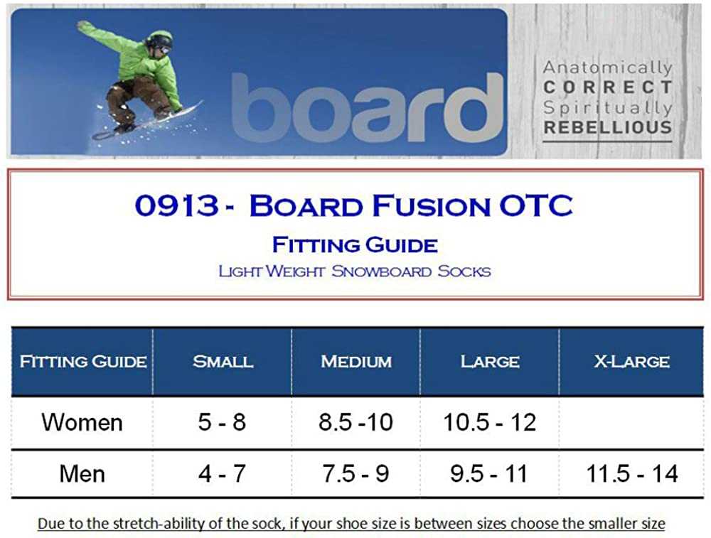 Eurosock Board Fusion Snowboarding Socks, Balanced Cushioning, Padded Shin Protection, No Bunching, Warm-0913