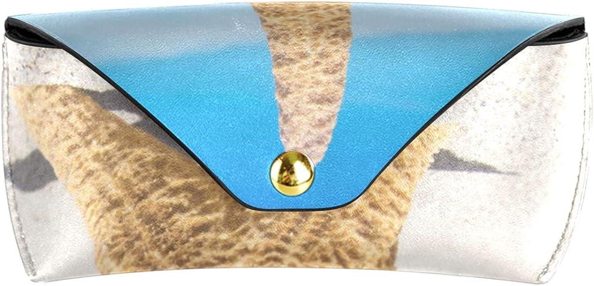 PU Leather Starfish Beach School Portable Sunglasses Case Eyeglasses Pouch Multiuse Goggles Bag