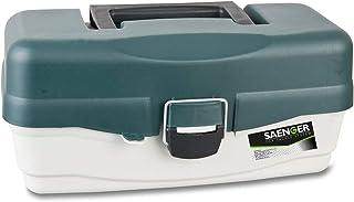 Saeger Unisex – vuxen 10C4039507124403C10 fiskeutrustning låda fiskelåda med 2 laster fiskeväska från Specitec sånger, fle...