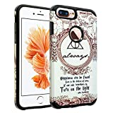 iPhone 8 Plus Case, DURARMOR Harry Potter Deathly Hallows Dual Layer Hybrid Shockproof Ultra Slim Fit Armor Air Cushion Defender Protector Cover for iPhone 8 Plus Harry Potter Train Tickets