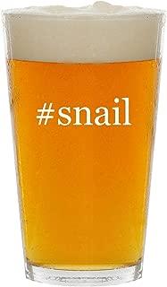 #snail - Glass Hashtag 16oz Beer Pint