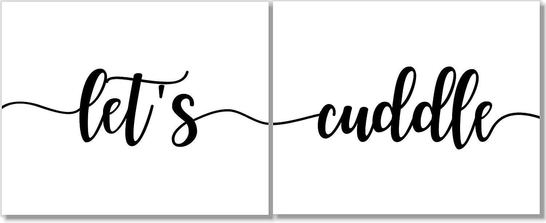 Let's Cuddle Art Prints - Romantic Set 2-11x14 Super intense SALE 55% OFF Decor of Wall