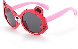 HQPCAHL - Gafas De Sol para Niños Niñas Goma Suave Niños Gafas De Sol Polarizadas con Forma De Panda Lindo Marco Flexible Protección UV400 para Niños Niños Y Niñas De 3 A 12 Años