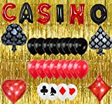 Casino Party Decorations Favors Las Vegas Theme Casino Night Party Supplies Set by TOYFUL