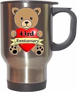 Happy 43rd Anniversary Stainless Steel Mug