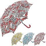 Bisetti Paint - Clima Paraguas Infantil Automático | Paraguas Antiviento Coloreable Ideal para Viajes, Niño y Niña, Rojo