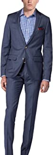 NMFashions Dark Teal Basket Weave Ryan Reynolds Blue 2 Piece Suit