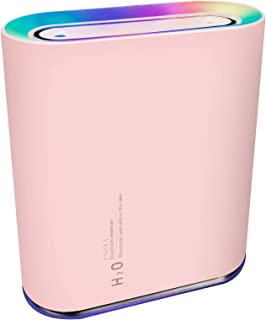 「2020年冬最新型」加湿器 卓上 小型 部屋 オフィス 大容量 2種類噴霧モード(1,000ml) 最大24時間使用可能 乾燥対策 USB 充電式 LEDランプ付き 日本語取扱説明書付き ピンク ENSYA