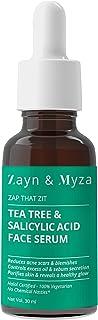 ZM Zayn & Myza Halal Compliant Tea Tree & Salicylic Acid Face Serum Reduces Acne Scars, Blemishes, Purifies Skin, Reveals ...