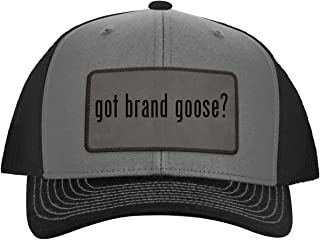 got Brand Goose? - Leather Grey Patch Engraved Trucker Hat