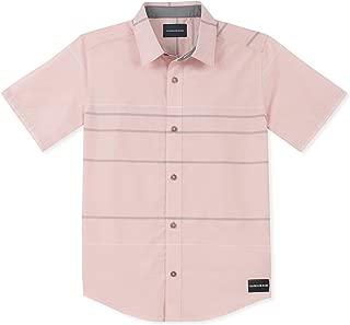 Calvin Klein Boys' Big Stripe Short Sleeve Shirt,