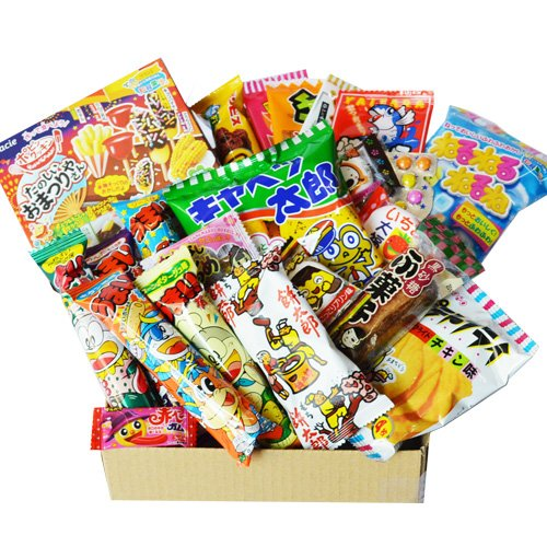 Caja japonesa de Popin Cookin Dagashi del caramelo Caja del chocolate w / AKIBA KING del gatito de la viruta de la patata de Gumi del aperitivo de 24pcs Umaibo