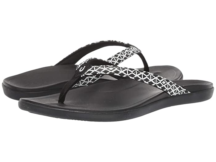 Ho'opio  Shoes (Black Kapa/Black) Women's Sandals