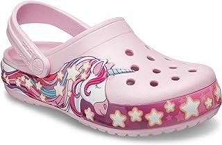 Crocs FunLab Unicorn Band Lghts Clog Kids Ballerine Rose Fuchsia Croslite