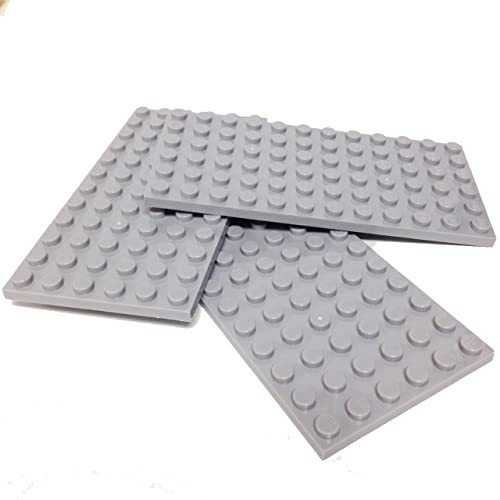 Lego Parts: Plate 6 x 12 (Pack of 3 - Light Bluish Gray)