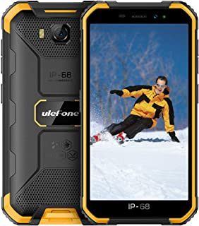 Ulefone Armor X6(2020) Rugged Cell Phones 3G Unlocked, Waterproof Rugged Phones Unlocked 5`` Android 9.0 8MP Camera 2GB +16GB(Extend 128GB) 4000mAh, Face Unlock/Dual SIM/GPS/Glonass/WiFi