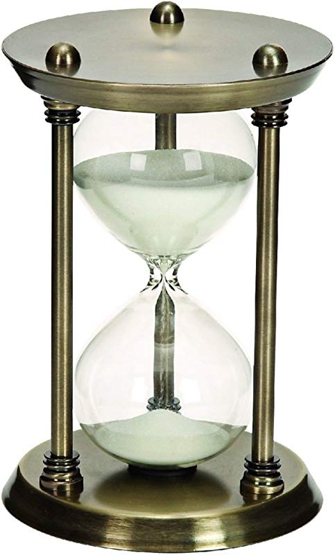30 Minute Nautical Sand Timer Metal Hour Glass 9 Inch