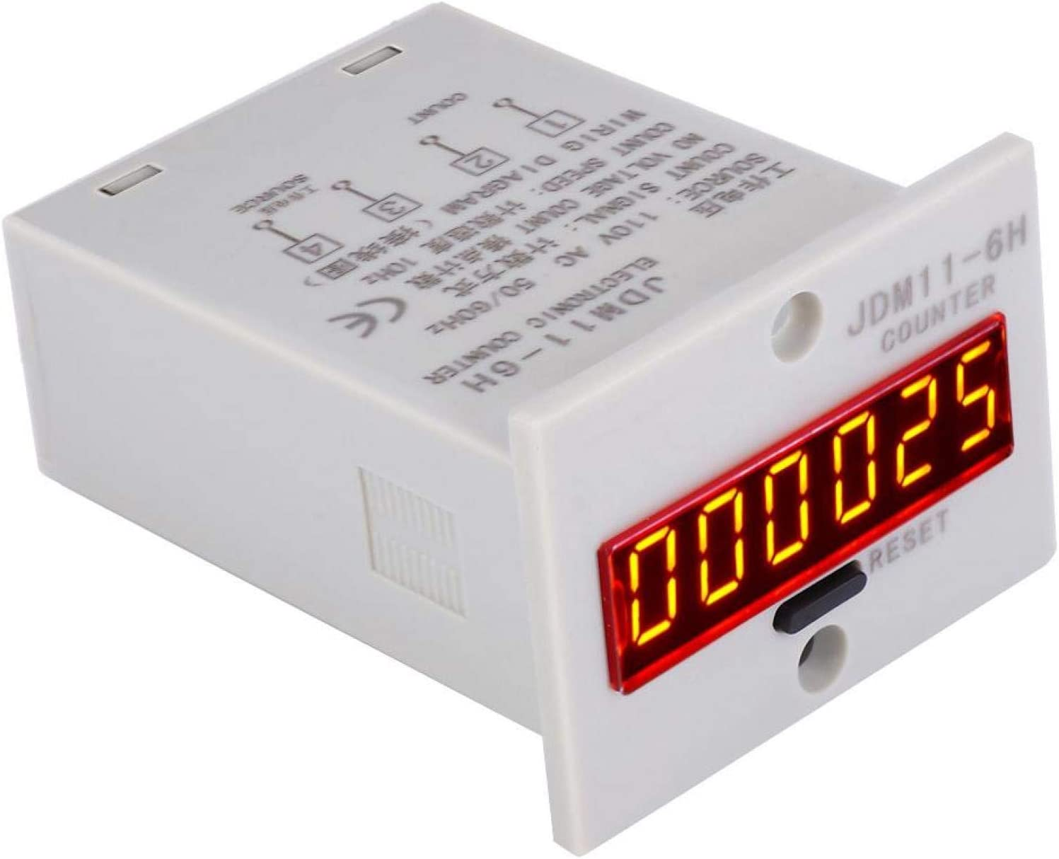 JDM11-6H Free Shipping Cheap Bargain Gift No Voltage Limited time cheap sale Counter Digits Relay Elect 6