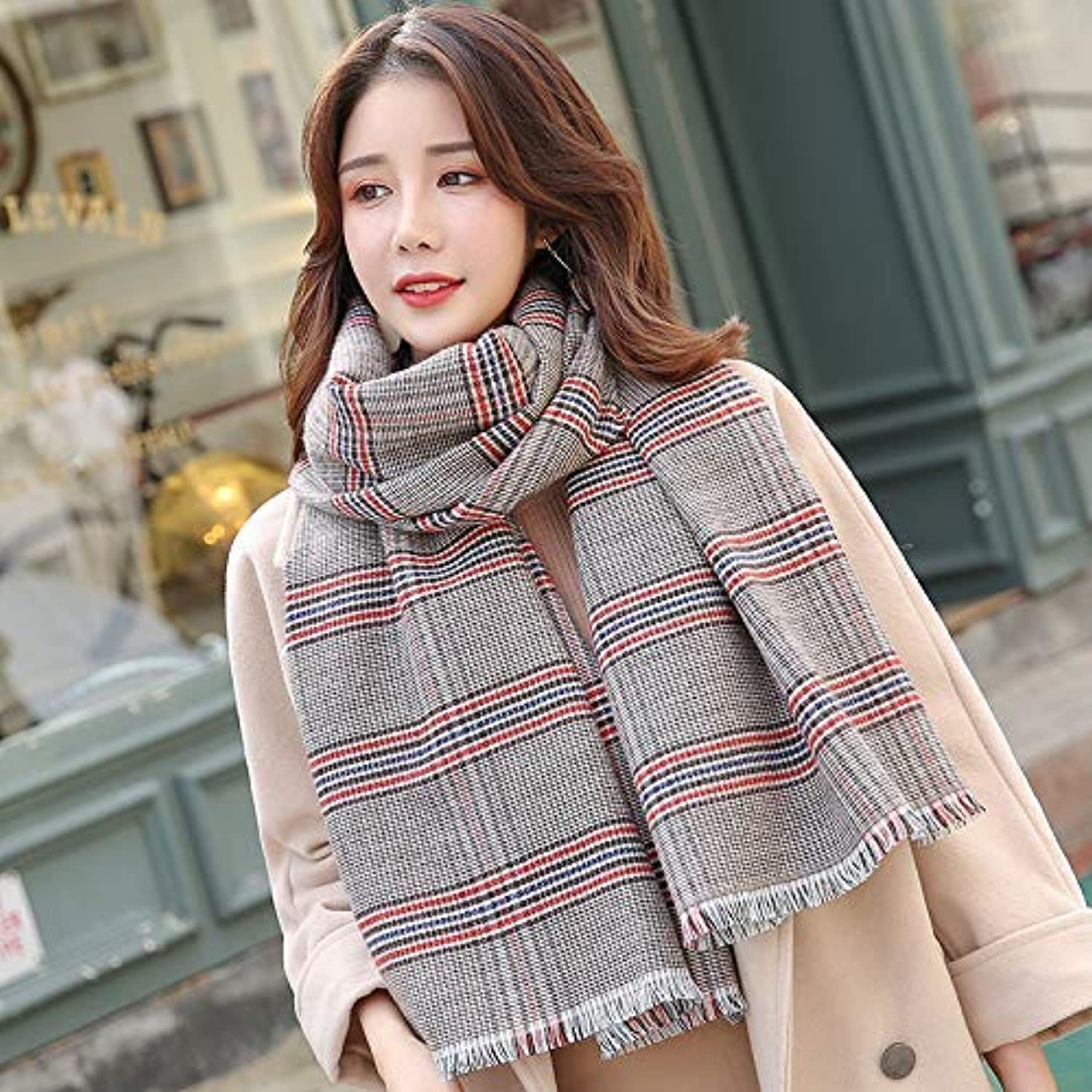 Long Scarf Scarf women's autumn and winter wild long section winter thickening bib shawl to keep warm dualuse Fashion Scarf