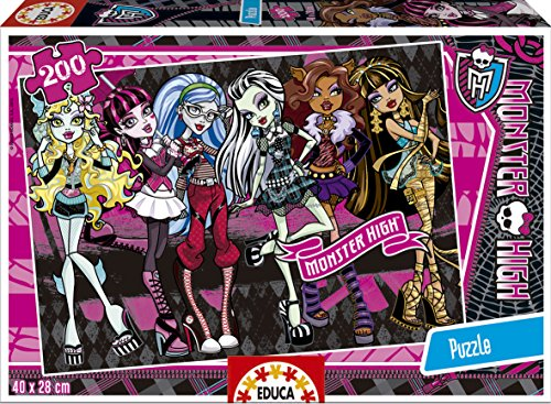 Puzzles Educa - Monster High, Puzzle de 200 Piezas (15630)