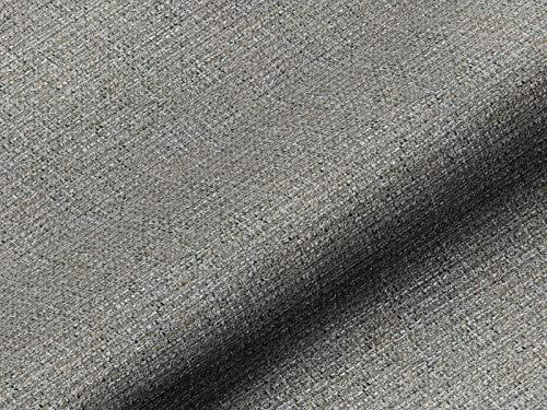Saum & Viebahn GmbH & Co. KG Möbelstoff NORDLI Uni grau, hochwertiger Polsterstoff als Meterware, Fleckschutz