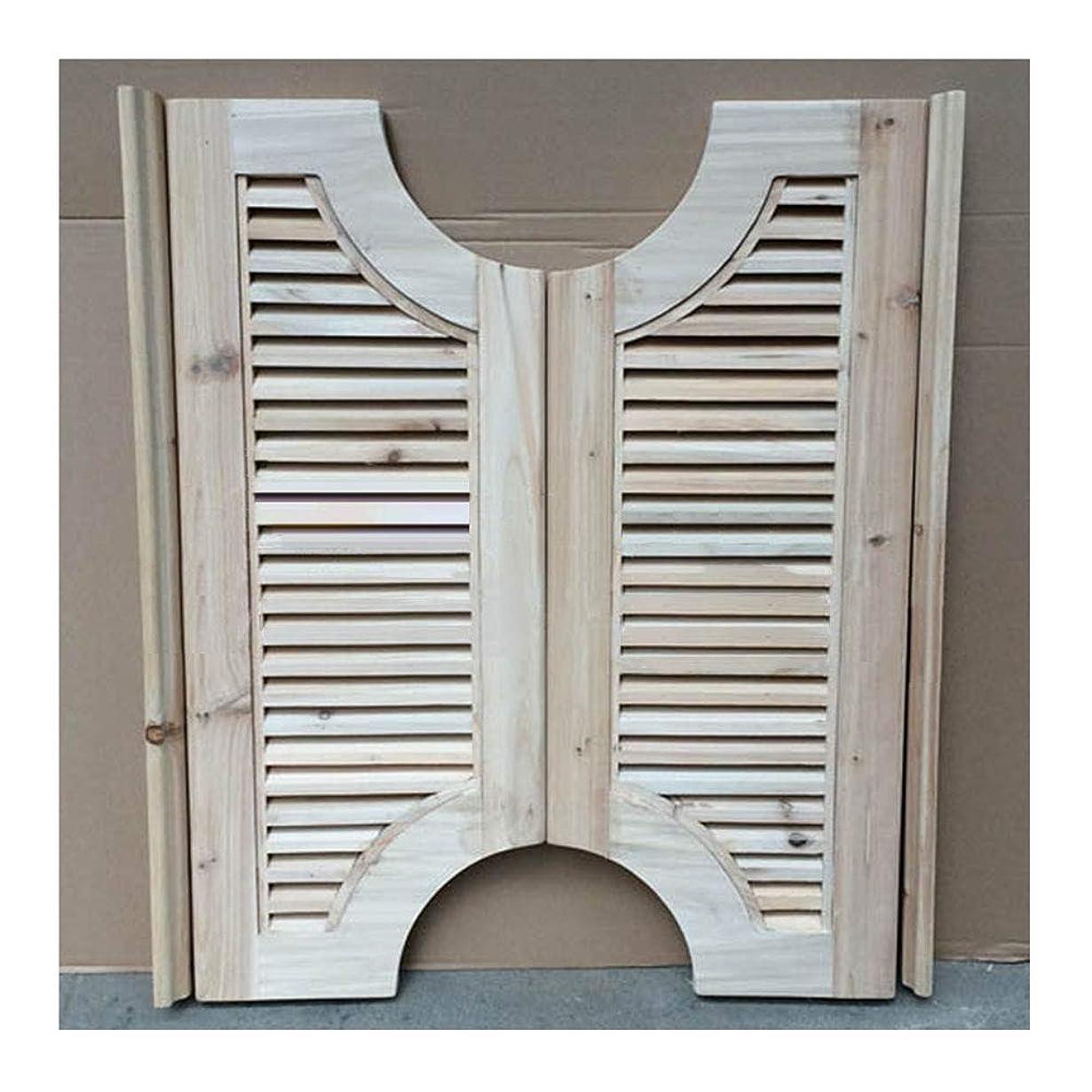 矛盾する組み込むエレベーターCAIJUN カフェドアーズ スイングドア 無垢材 ルーバーゲート サルーン バードア 未完成 自動閉鎖 両方向に開く、 2つのスタイル (Color : A, Size : 75x90cm)