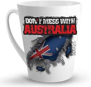 Makoroni - DON'T MESS WITH AUSTRALIA - 12 Oz. Unique LATTE MUG, Coffee Cup