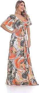 Vestido Clara Arruda Decote V Estampado 50356