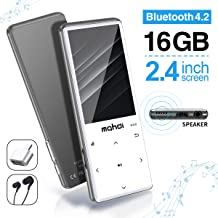 MYMAHDI MP3 Player with Bluetooth 4.2, Touch Buttons with 2.4 inch Screen, 16GB Portable Lossless Digital Audio Player with FM Radio, Voice Recorder, Support up to 128GB, Silver