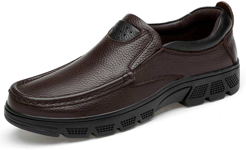 JUJIANFU-shoes Men's Personality Fashion Oxford Casual Classic Low Top Comfortable Big Size Formal shoes(Warm Velvet Optional)