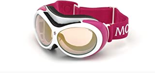 Moncler ML0130A - 21U Red/ white Ski Goggles 89mm